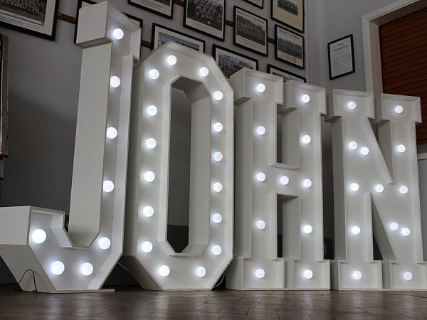 Giant LED light up letters